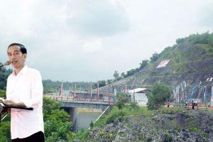 Presiden Joko Widodo saat meresmikan  Bendungan Nipah  di Kec. Kanyuwates, Kab. Sampang,  Jawa Timur.