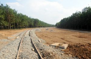 Proyek Jalur Rel Kereta api KEK6