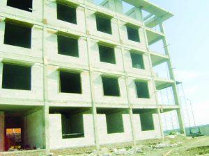 Pembangunan Rusunawa di Kecamatan Krian, Kabupaten Sidoarjo,  Jawa Timur. Kontraktor pelaksana PT. Brantas Abibraya Persero. (Panggungmodusoperandi)